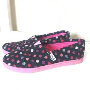Toms slip on Loafers Polka Dot canvas shoes